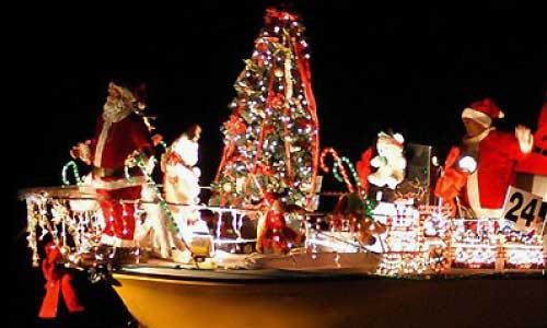 Holiday parades in Dunedin and Clearwater